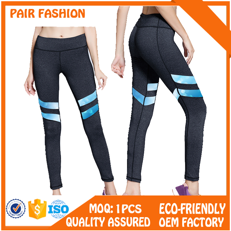 custom printed high waist polyester spandex yoga pants for women