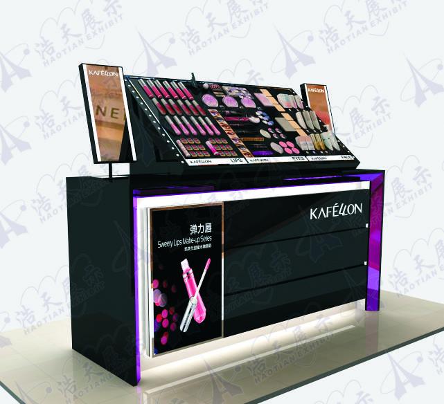 fashion korean trend cosmetic makeup display showcase stand