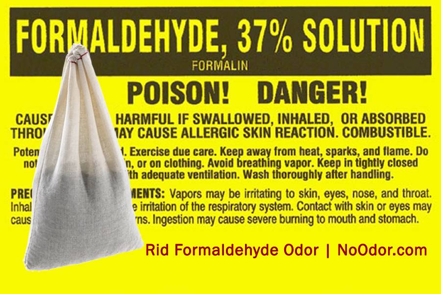 SMELLEZE Reusable Formaldehyde Smell Removal Deodorizer Pouch: Rids Chemical Odor Without Cover-Ups