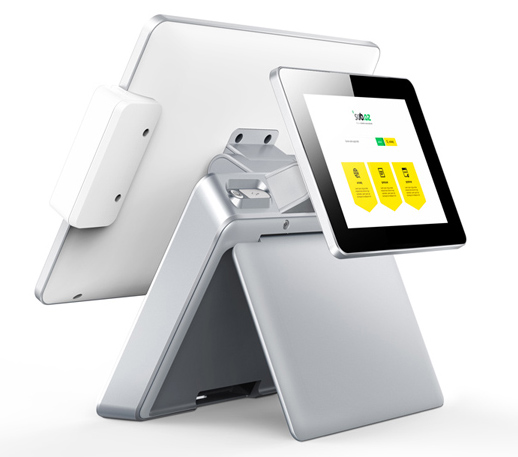 Aluminum alloy bottom 15 inch POS All in one epos Point Of Sale system