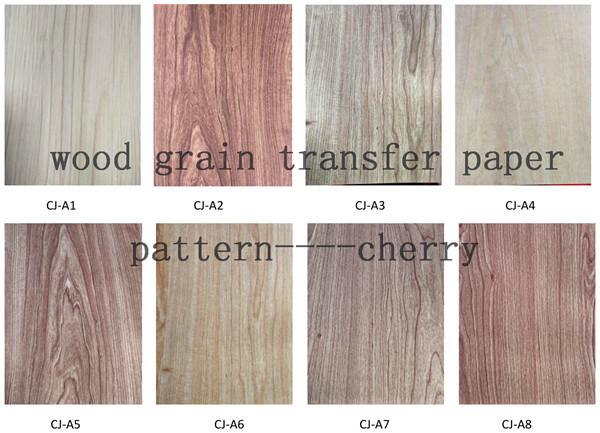 wood grain transfer paper
