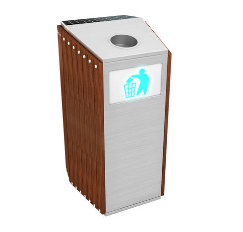 outdoor trash bin