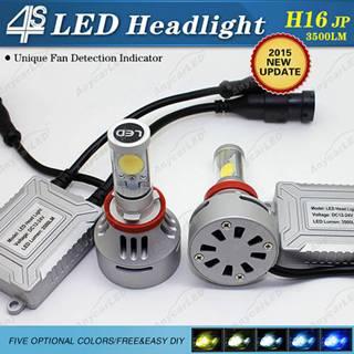 4S 3500LM H16 LED Headlight Bulb Conversion Kit DC12-24V with CE,RoHS