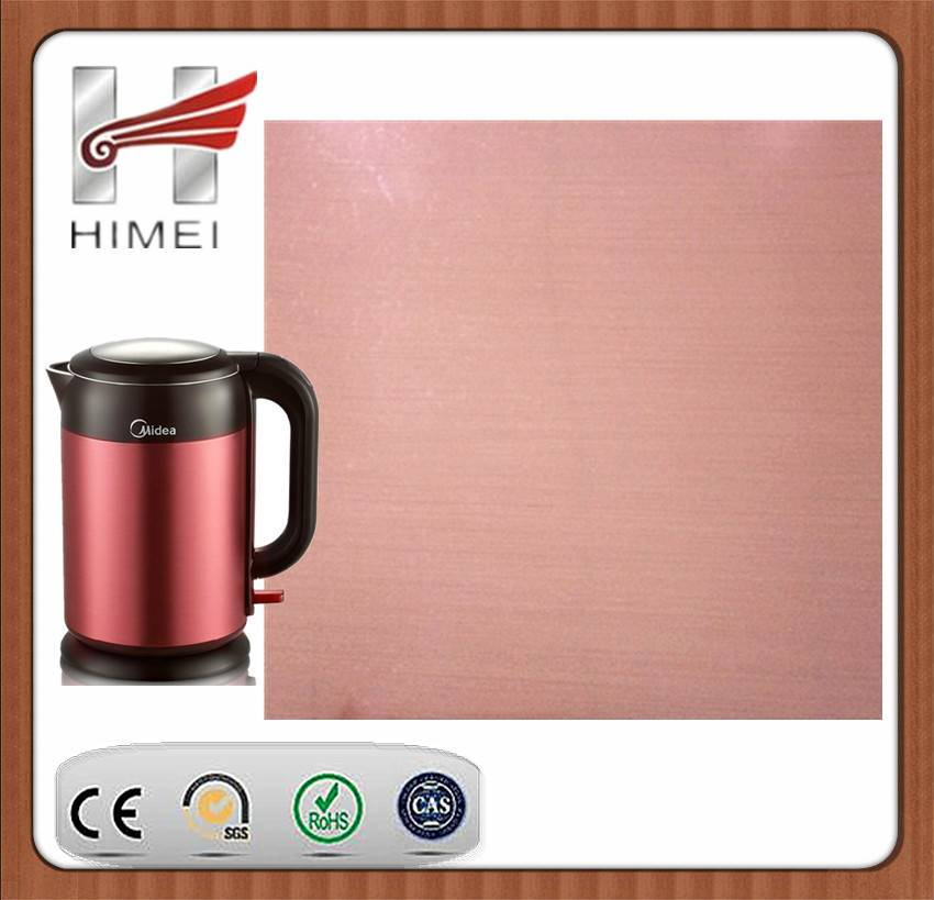 PVC film laminated sheet for electric kettle
