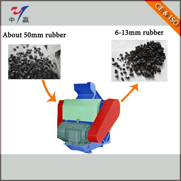 Rubber Recycling Equipment Plant--Rubber Secongary Crusher