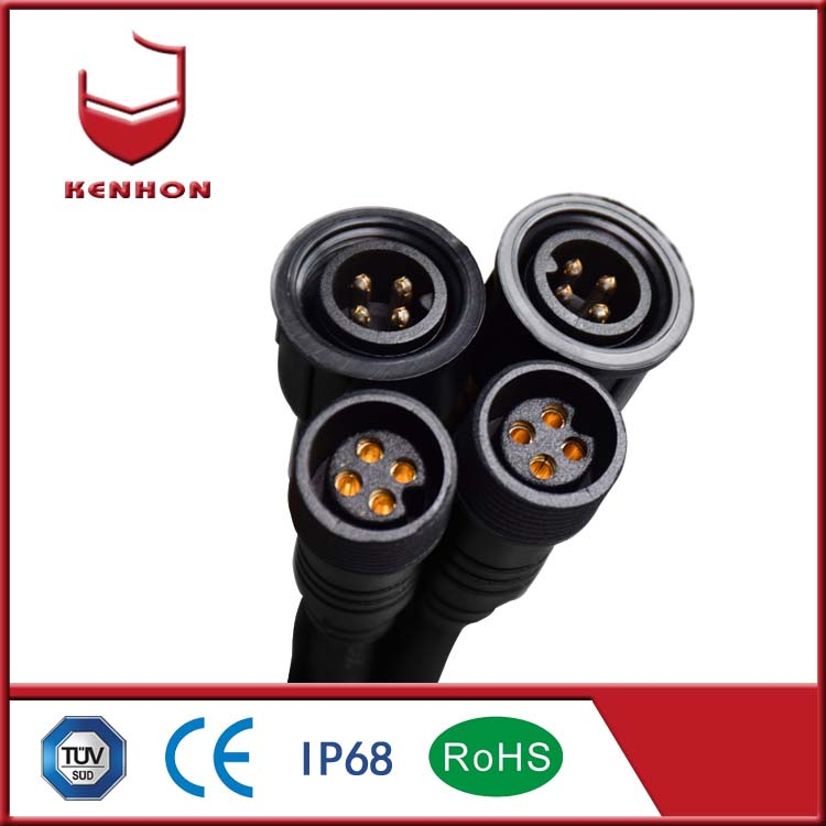 M18 nylon waterproof connector for waterproof light with 2pin