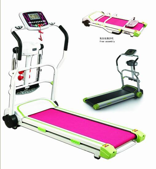 electric treadmill with  multifunction, double layer running board