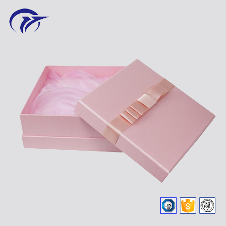 Customized printing chocolate packaging handmade gift box with ribbon decoration