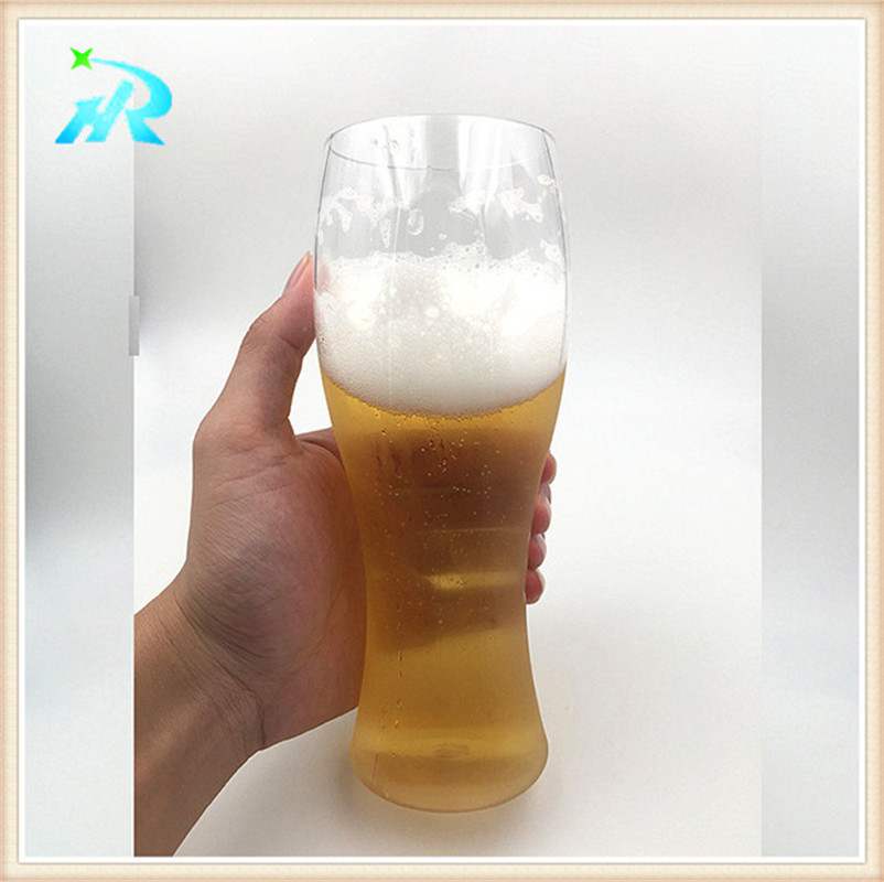Cheap clear plastic wine beer glass goblets