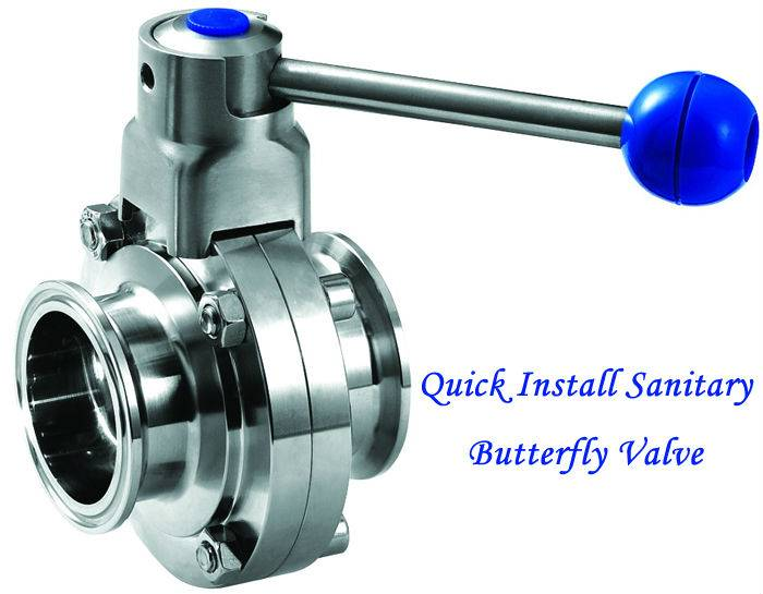 Quickly Installed Sanitary Butterfly Valve, Sanitary Clamp Butterfly Valve