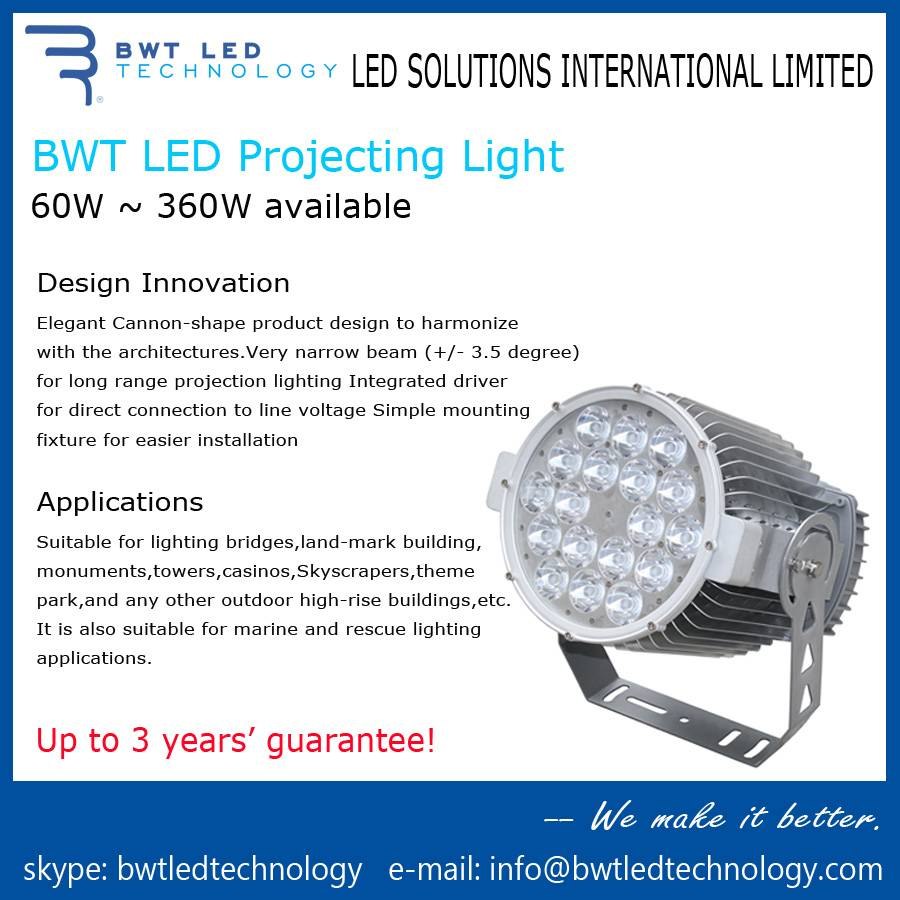 BWT LED Projecting Light 180W 3 Years' Guarantee