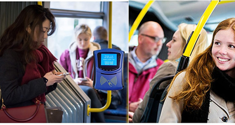 Automatic Contactless Bus Fare Collection System With 2D Bar Code Reader And NFC