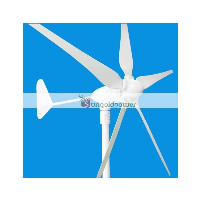 400W wind turbine generator 24V AC 5 blades