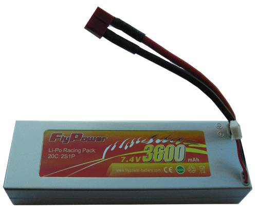 7.4V 3600mAh 20C RC car high power Li-Po battery pack