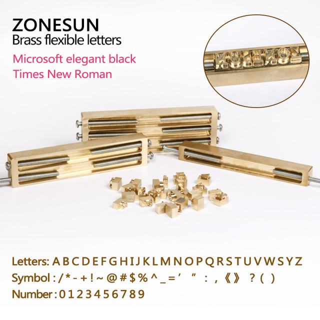Brass letters, CNC engraving mold, hot foil stamp, number, alphabet mold, symbol customized font