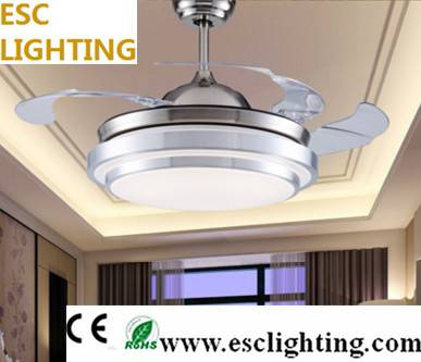 decorative simple style ceiling fan with lamp