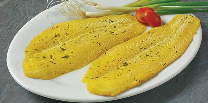 Marinated Pangasius ( Mustard & Dill)
