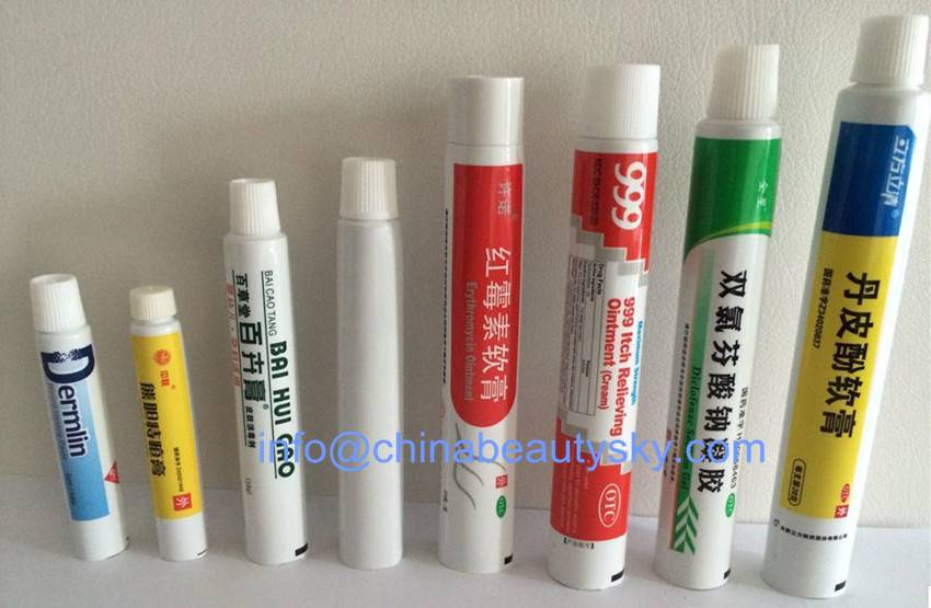 Packaging Tubes Aluminum Plastic Tubes Laminated tubes for Cosmetic tube,Toothpaste tube,ointment cr