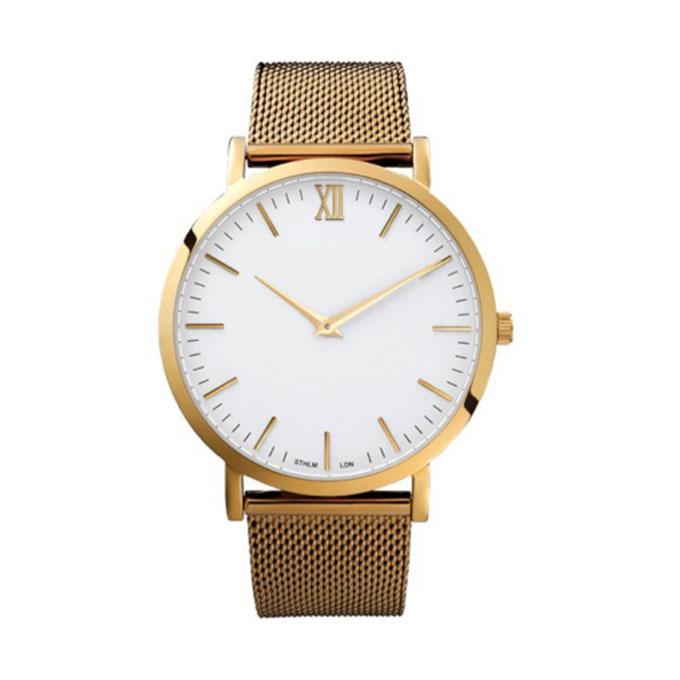 Yxl-095 New Style Hottest Mesh Steel Strap Watch Men's Watch Custom Design OEM Gold Luxury Watch