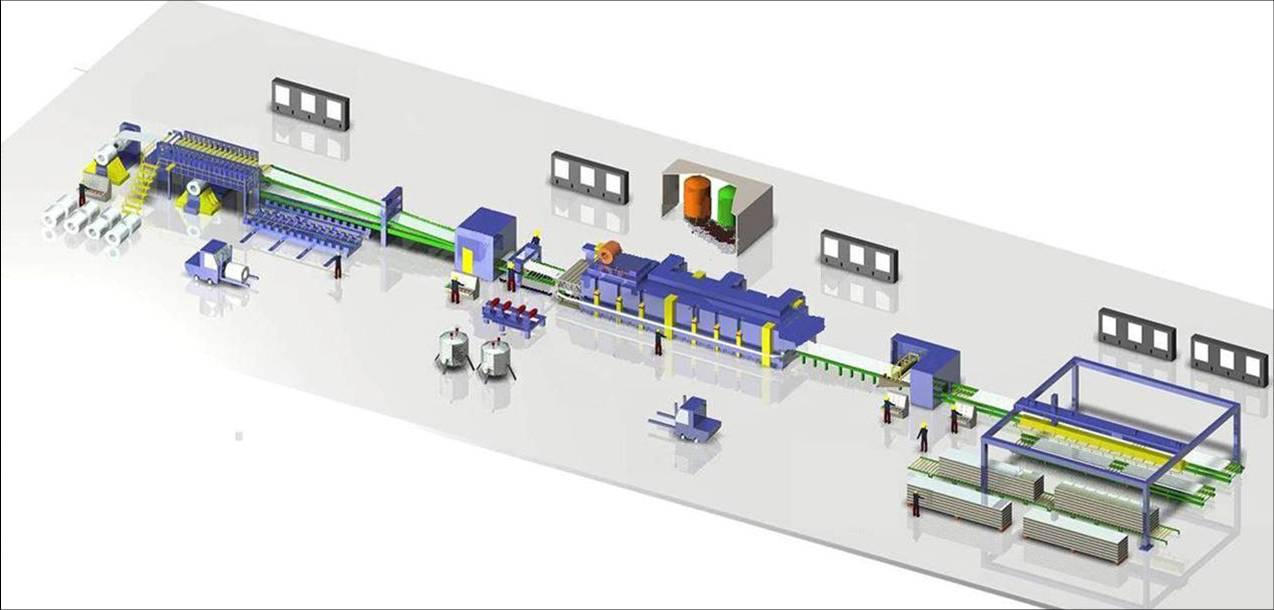 Sandwich prodction continuous production line