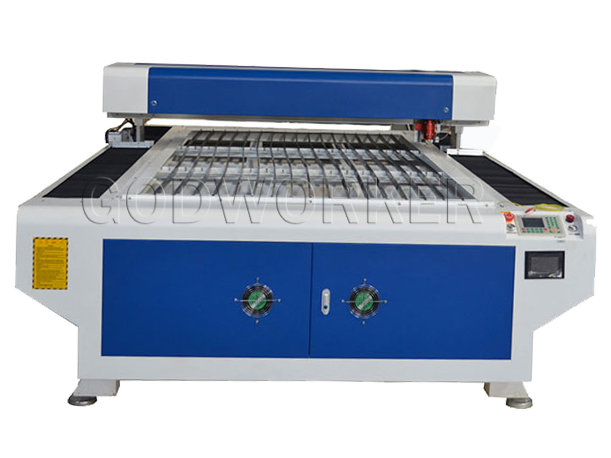 GW-1325 mixed laser cutting machine with Helical gear rack, servo motor