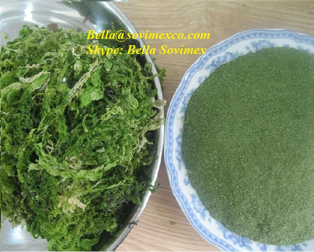 Dried ulva lactuca seaweed for animal feed