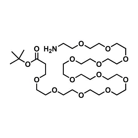 Amino-PEG12-t-butyl ester;H2N-PEG12-CH2CH2COOtBu;CAS#872340-65-3