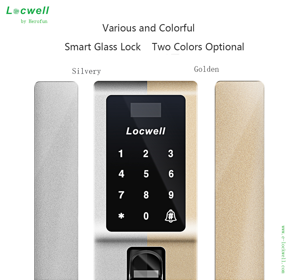Digital Code Fingerprint Glass Door Lock