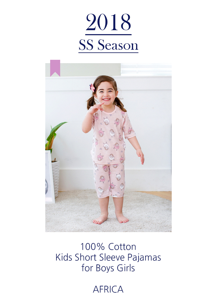 2018 SS SEASON KIDS SHORT SLEEVE PAJAMAS FOR BOYS GIRLS