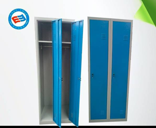 Steel double locker Knock down Steel office furniture Multiuse