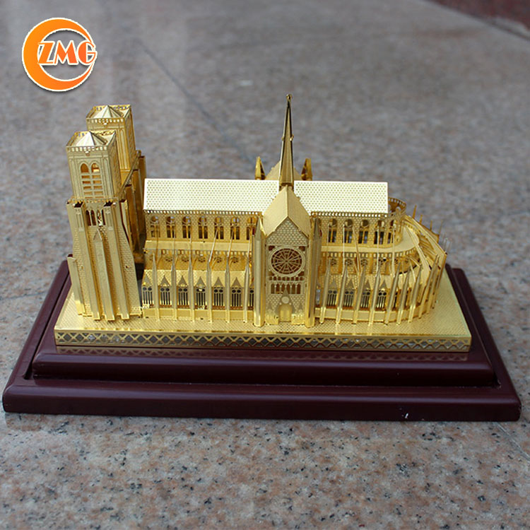 high quality decoration personalized 3D metal building crafts