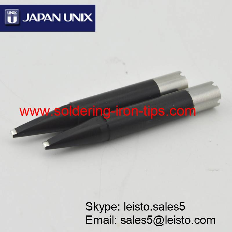 Black chromium Janpan UNIX P3D-R soldering iron tips for Japan Unix soldering robot, Unix series tip