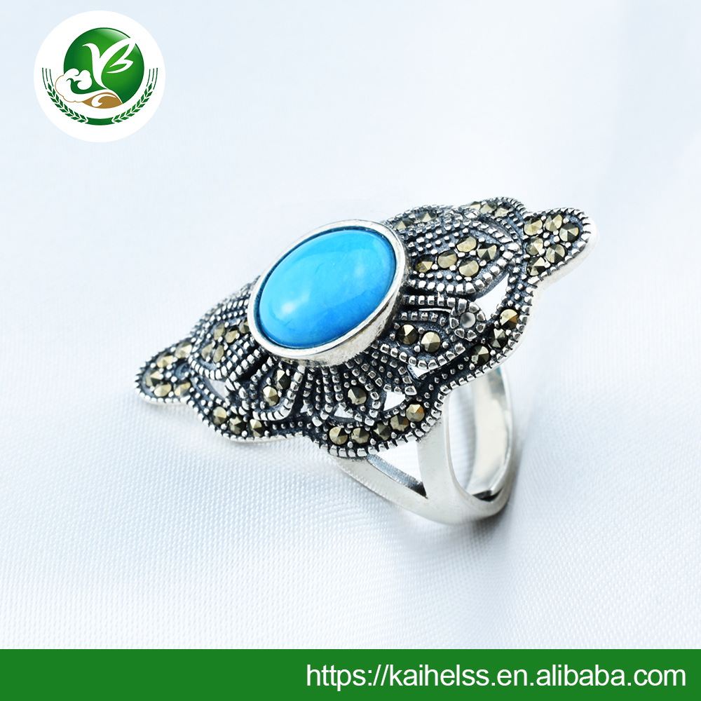 Natural turquoise rings wedding jewelry wholesale retail manufacturing