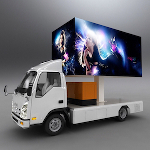 SoPower Outdoor LED Advertising Truck for Movie Nights, Parties, Events, Stage Backdrops, etc.