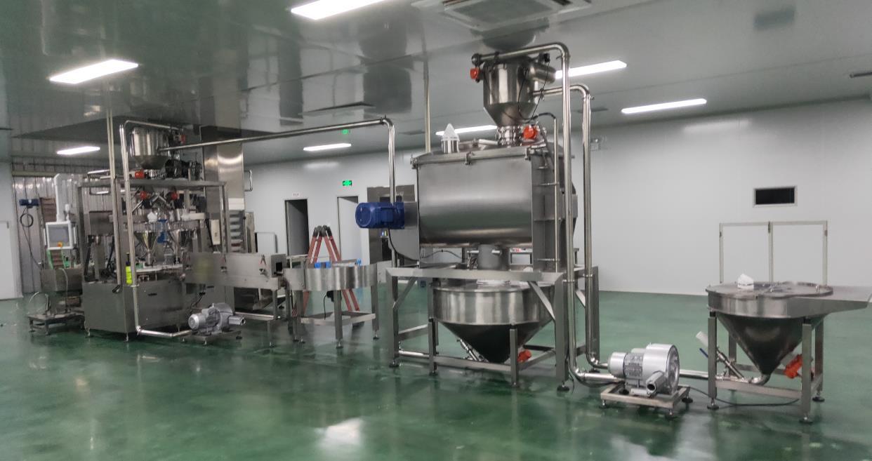 Powder handling system production line