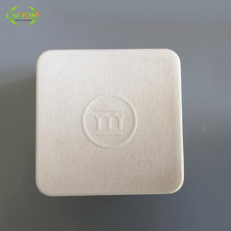 Printable mini electronic product bagasse tray,pulp paper tray supplier,custom molded pulp packaging
