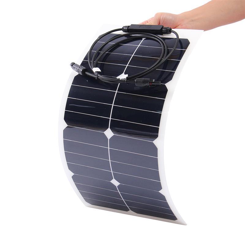 Photovoltaic 28W 18V Semi-Flexible Solar Panel Sunpower Mono Cell Module Kit for Yacht RV Boat Car C