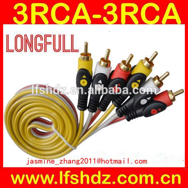 3rca to 3rca audio video cable