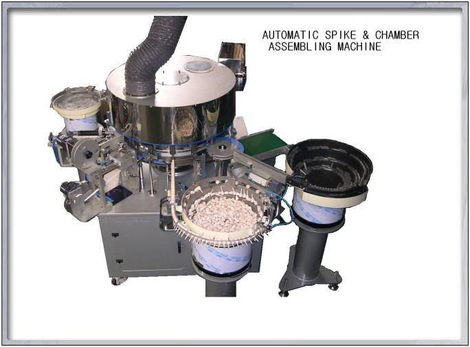 Infusion set(I.V. set) spike & chamber assembly machine
