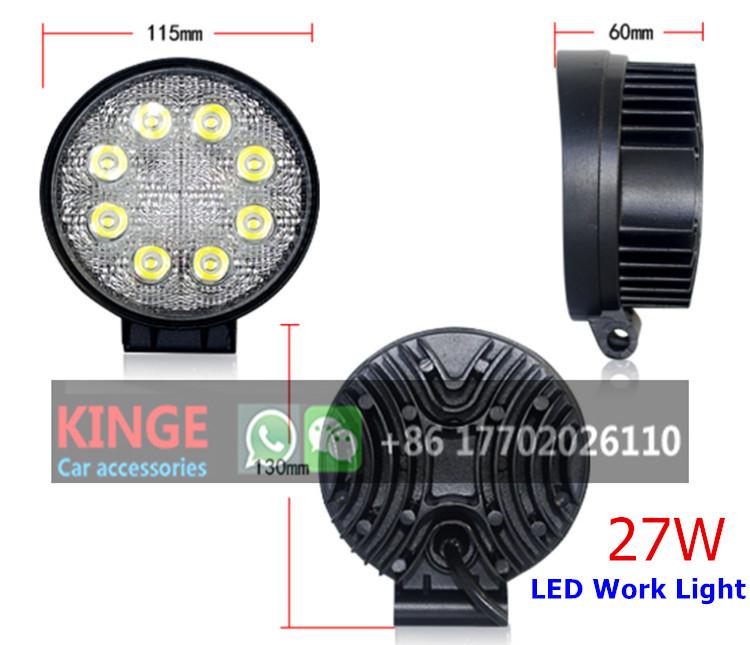 KGKIN Led Work Light 27W 4inch Car Headlamp