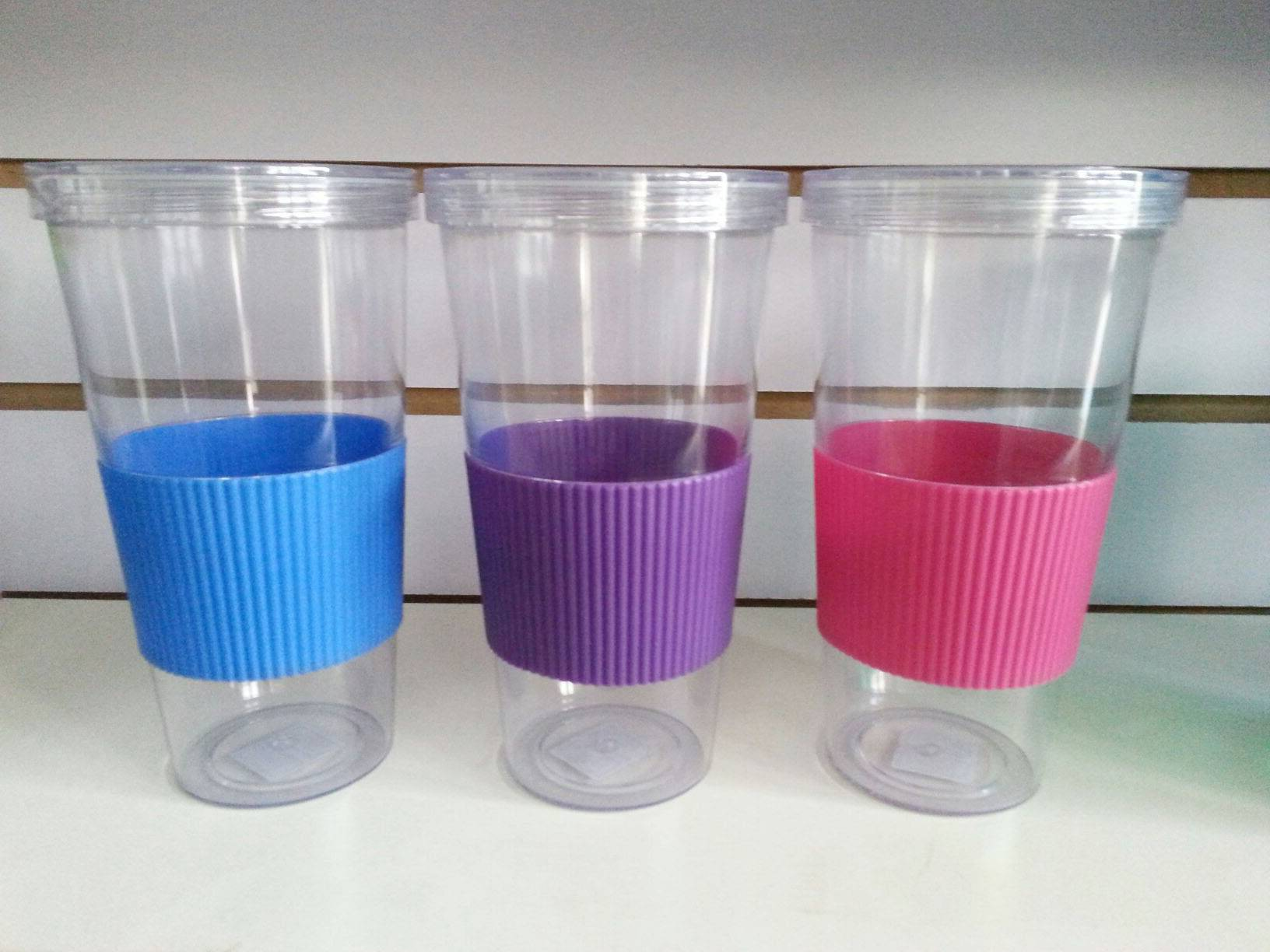5% discount 20OZ single wall beverage drinkware/tumbler/plastic cup with straight straw