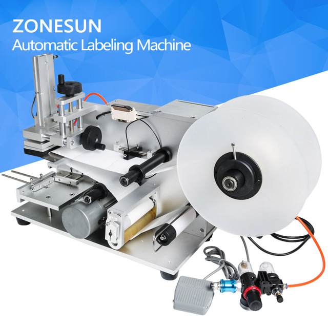 ZONESUN LT-60 Semi automatic Labeling Machine,drugs bottle labeling machine