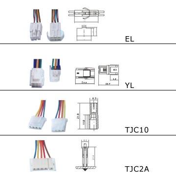 EL,YL,TJC10,TJC2A Connectors