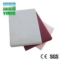 anti-fire fabric acoustic panels with fiber cotton for theater ceiling or wall