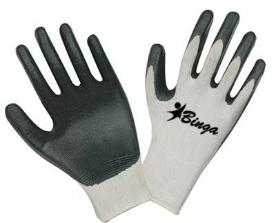 Nitrile Coated 13G Polyster Shell Safety Glove