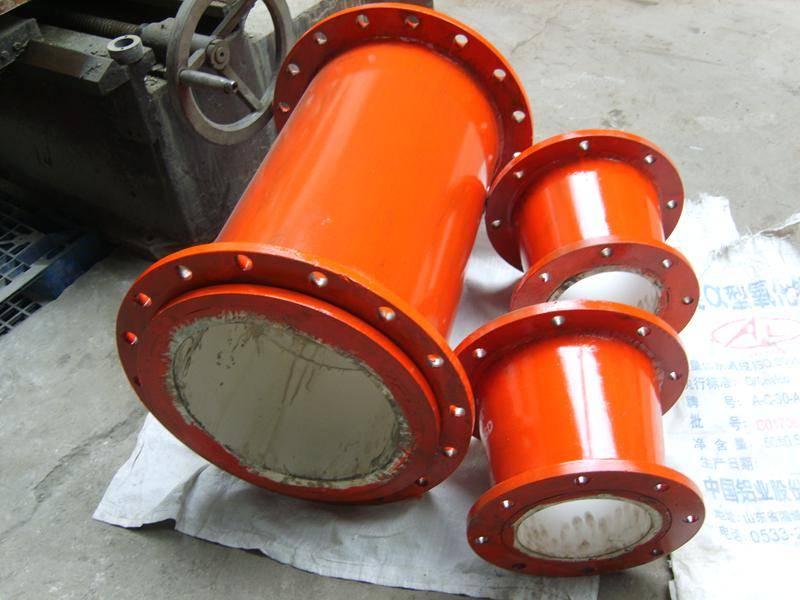 wear protection 92% alumina ceramic lined steel elbow