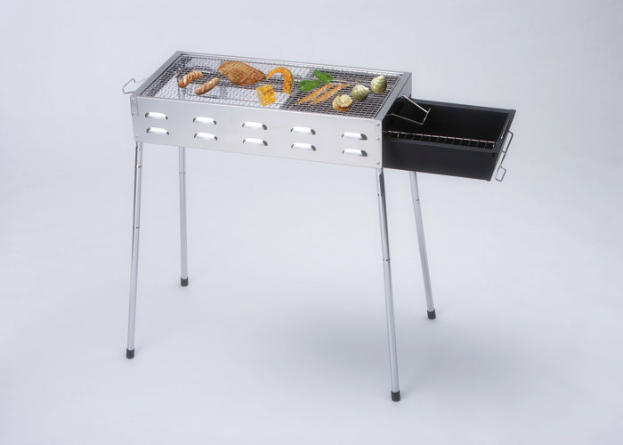 Outdoor metal bbq grill charcoal