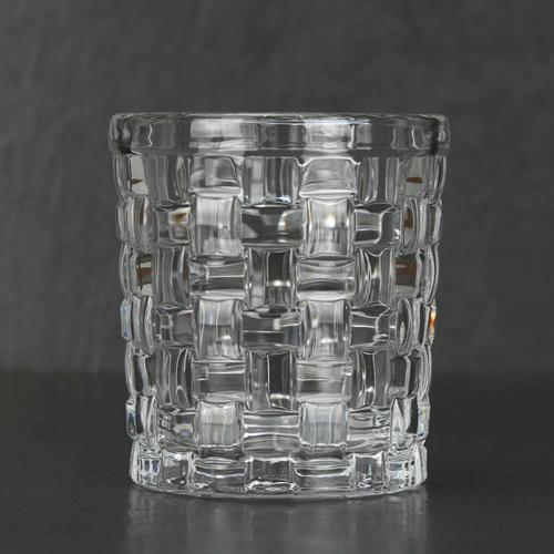 Fabric decorative design whiskey glasses