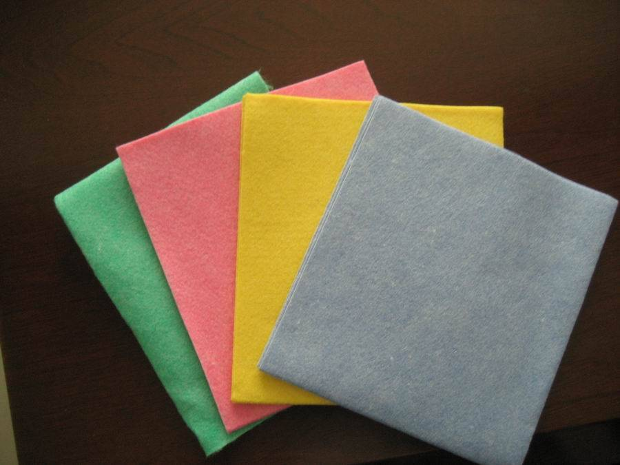 Polyester Nonwoven home/ house/ kitchen cleaning cloth  fabric and towel