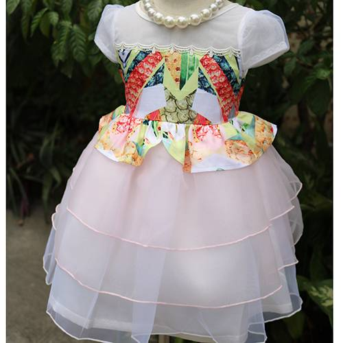 Free sample latest princess dress design party girl dresses